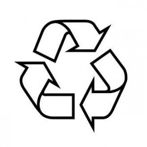 anneau de Moebius simple = emballage recyclable