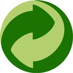 point-vert = le producteur contribue financièrement au traitement des déchets