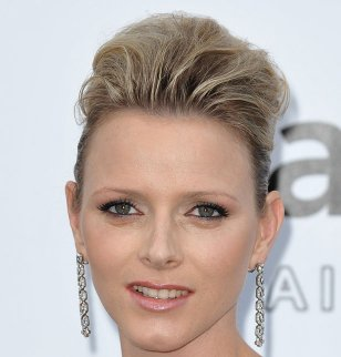 Charlene Wittstock coiffure